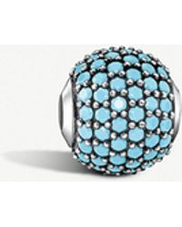 Thomas Sabo - Pave Turquoise Sterling Silver Karma Bead - Lyst