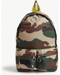 Off-White c/o Virgil Abloh - Camouflage Canvas Backpack - Lyst