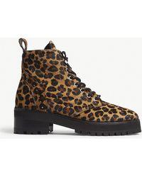 The Kooples - Leopard-print Pony-hair Boots - Lyst