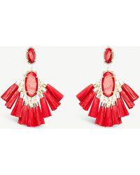 Kendra Scott - Kristen 14ct Gold-plated And Mother Of Pearl Stone Drop Earrings - Lyst