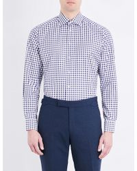 Eton of Sweden | Checked Contemporary-fit Cotton Shirt | Lyst