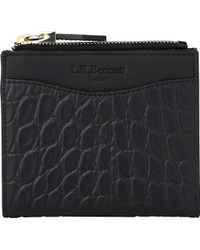 L.K.Bennett - Kira Crocodile-embossed Leather Purse - Lyst