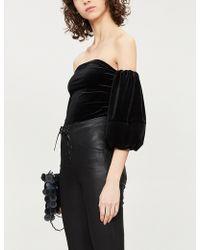 GOOD AMERICAN - Ladies Black Off-the-shoulder Velvet Body - Lyst
