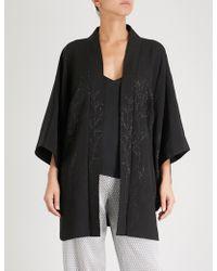 Kisshōten - Silver Forest Silk Kimono Robe - Lyst