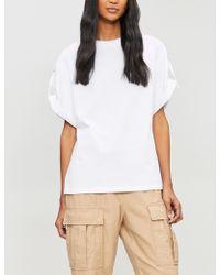 3.1 Phillip Lim - Adjustable Cotton-jersey T-shirt - Lyst