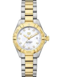 Tag Heuer - Wbd1422.bb0321 Aquaracer 18ct Gold And Stainless Steel Watch - Lyst