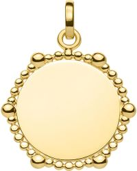 Thomas Sabo - Love Bridge Coin Dots 18ct Yellow Gold-plated Pendant - Lyst