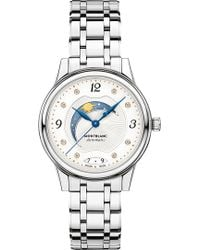 Montblanc - 114731 Bohème Day & Night Stainless Steel Gold And Diamond Watch - Lyst