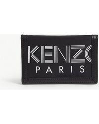 KENZO - Striped Logo Leather Trim Wallet - Lyst