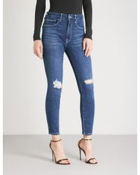 GOOD AMERICAN - Good Waist Skinny Cropped High-rise Jeans - Lyst