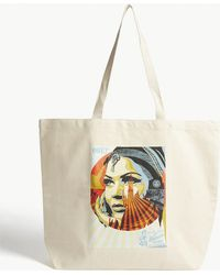 Obey - Natural Target Exceptions Canvas Tote Bag - Lyst