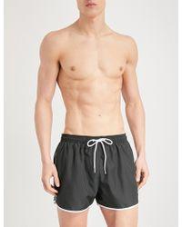 7d75631d9e Calvin Klein Core Neon Placed Logo Runner Swim Shorts in Black for ...