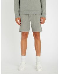The Kooples - Striped-detail Cotton Shorts - Lyst