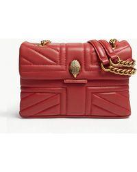 Kurt Geiger - Red Quilted Kensington Union Jack Leather Shoulder Bag - Lyst