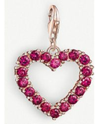 Thomas Sabo - Charm Club Cut-out Rose-gold Heart Charm - Lyst