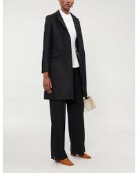 Maje - Gireg Straight-cut Virgin Wool Coat - Lyst