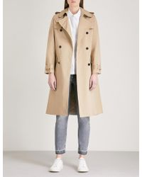 Claudie Pierlot - Double-breasted Cotton Trench Coat - Lyst