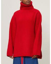 Acne Studios - Ribbed-knit Wool Turtleneck Jumper - Lyst