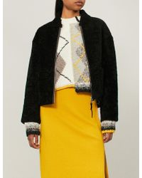 Pringle of Scotland - Cropped Shearling Jacket - Lyst