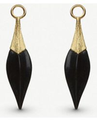Annoushka - 18ct Yellow Gold And Ebony Earring Drops - Lyst