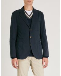 Brunello Cucinelli - Slim-fit Wool And Cotton-blend Jacket - Lyst