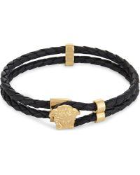 Versace - Medusa Leather Bracelet - Lyst