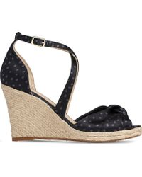 b9ebc2f63bee4 Laura Thong Wedge Sandals.  319 Sold out. Shopbop · L.K.Bennett - Angeline  Polka Dot Leather Espadrille Sandals - Lyst