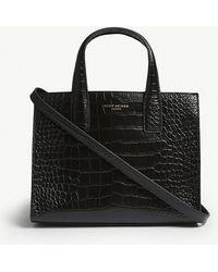 Kurt Geiger - London Croc-embossed Leather Tote - Lyst