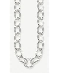 Thomas Sabo - Circle Sterling Silver Chain Necklace - Lyst