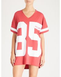 Tommy Hilfiger - Logo Stretch-jersey Night Dress - Lyst