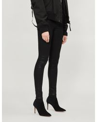 J Brand - X Steph Shep Maria Lace-up High-rise Skinny Coated Jeans - Lyst