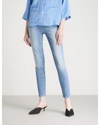 PAIGE - Hoxton Ankle Skinny High-rise Jeans - Lyst