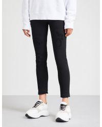 DSquared² - Distressed Straight Stretch-denim Jeans - Lyst