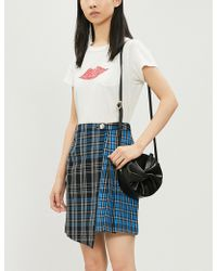 Claudie Pierlot - Selen Checked Cotton Wrap-over Skirt - Lyst