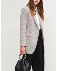 Theory - Checked Wool And Cotton-blend Jacket - Lyst