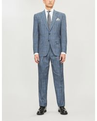 Gieves & Hawkes Checked Regular-fit Wool