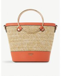 Dune - Dircle Woven And Faux-leather Shopper - Lyst