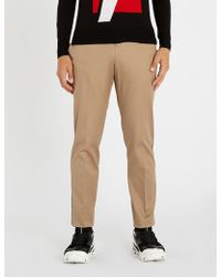 Neil Barrett - Side-striped Stretch-cotton Trousers - Lyst