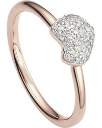 Monica Vinader | Nura 18ct Rose-gold Vermeil And Diamond Ring | Lyst