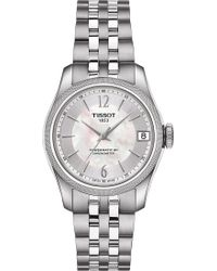 Tissot - T1082081111700 Ballade Stainless Steel And Mother-of-pearl Automatic Watch - Lyst