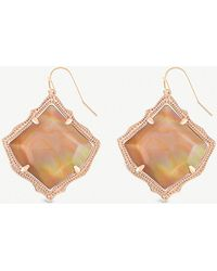 Kendra Scott - Kirsten 14ct Gold-plated And Brown Mother-of-pearl Drop Earrings - Lyst