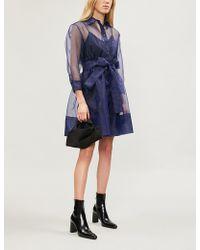 Maje - Revani Sheer Full-skirt Crepe Dress - Lyst
