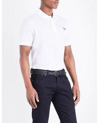 Ralph Lauren Purple Label - Custom-fit Cotton-piqué Polo Shirt - Lyst