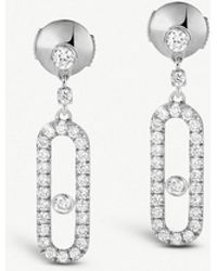 Messika - Move Uno 18ct White-gold And Diamond Earrings - Lyst