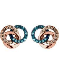Links of London - Treasured 18ct Rose-gold Vermeil And Diamond Stud Earrings - Lyst