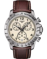 Tissot - T106.417.16.262.00 V8 Stainless Steel And Leather Chronograph Watch - Lyst