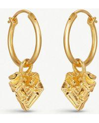 Missoma - Geo Bismuth 18ct Gold-plated Hoop Earrings - Lyst
