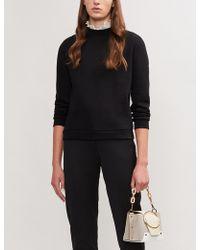 Claudie Pierlot - Tournon Back-button Sweatshirt - Lyst