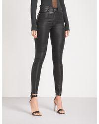 GOOD AMERICAN - Good Legs Waxed Coated Skinny High-rise Jeans - Lyst