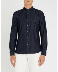 PS by Paul Smith - Tailored-fit Denim Shirt - Lyst
